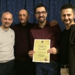 Seminario HIV,AIDS e IST Arezzo 12-03-16 I Dirigenti Provinciali ENS Arezzo e il relatore Lorenzo Laudo